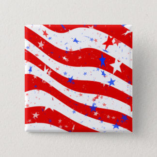Patriotic Red, White, and Blue Stars & Stripes Pinback Button