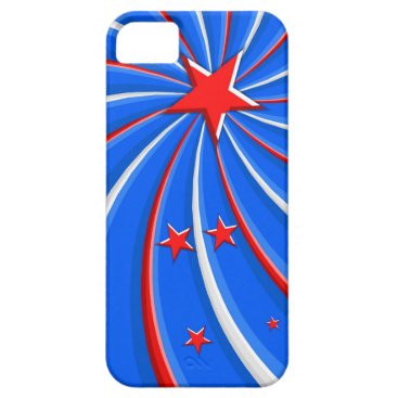 Patriotic Red White and Blue Stars Swirl iPhone SE/5/5s Case
