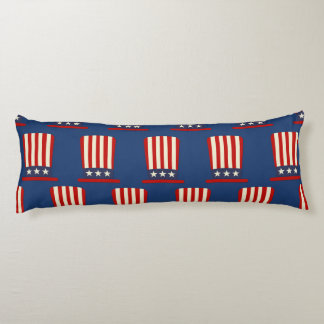 Patriotic Red, White and Blue Uncle Sam Hat Body Pillow