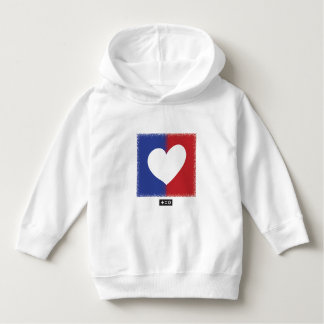 Patriotic Red White And Blue Unity Heart Hoodie