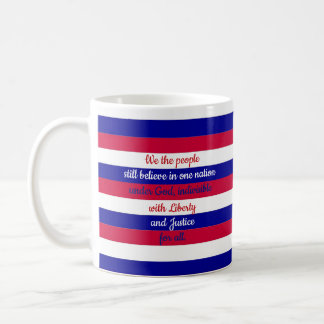 Patriotic Red White and Blue We the People Message Coffee Mug