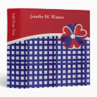 Patriotic Red, White and Blue Weave Binder