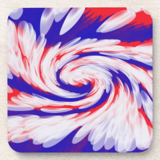 patriotic red white blue abstract beverage coaster