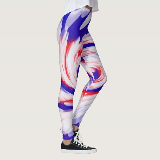 18ea7caf9d19c Patriotic Red White Blue Abstract Design Leggings | Zazzle.com