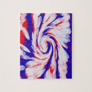 patriotic red white blue abstract jigsaw puzzle