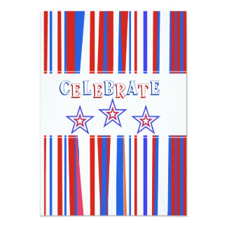 Patriotic Red White Blue Card