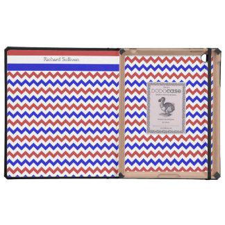 Patriotic Red White Blue Chevron DODOCase iPad iPad Folio Cases