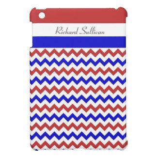 Patriotic Red White Blue Chevron iPad Mini Case
