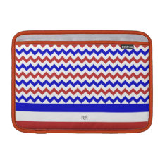 Patriotic Red White Blue Chevron Macbook Air 11 Macbook Air Sleeve at Zazzle