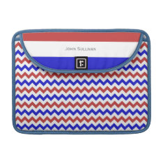 Patriotic Red White Blue Chevron Macbook Pro 13 Sleeve For Macbooks at Zazzle