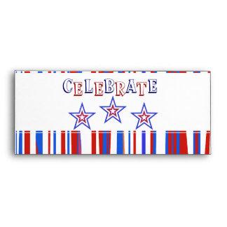 Patriotic Red White Blue Envelope