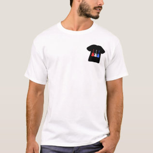 Patriotic Red White Blue Guitars On T Shirt at Zazzle