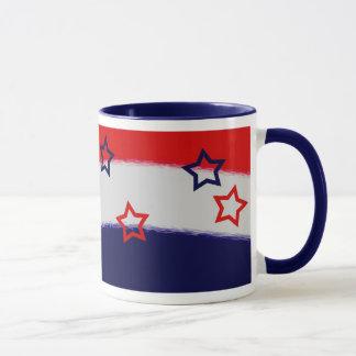 Patriotic Red White & Blue Mug
