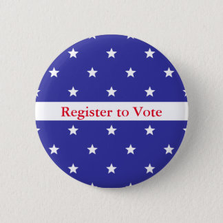 Patriotic Red White & Blue Register to Vote Button