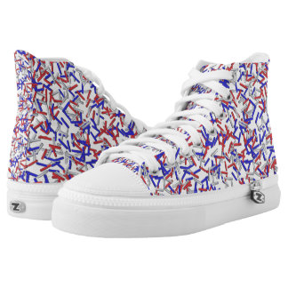 Patriotic Red White Blue Sprinkles High-Top Sneakers
