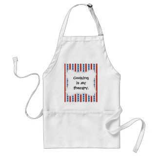 Patriotic Red White Blue Stars and Stripes Freedom Adult Apron
