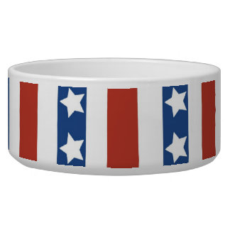 Patriotic Red White Blue Stars and Stripes Freedom Bowl