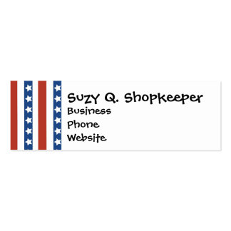 Patriotic Red White Blue Stars and Stripes Freedom Business Card Templates