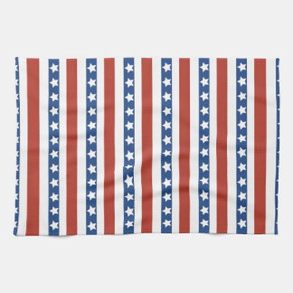 Patriotic Red White Blue Stars and Stripes Freedom Hand Towel