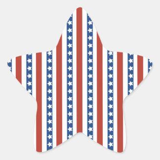 Patriotic Red White Blue Stars and Stripes Freedom Star Sticker