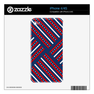 patriotic red white blue stars pattern iPhone 4S skins