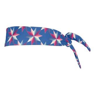 Patriotic Red White Blue Stars Tie Headband