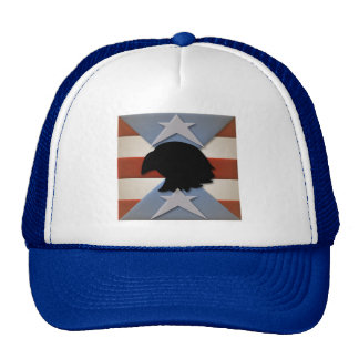 Patriotic Red White Blue with Eagle Trucker Hat