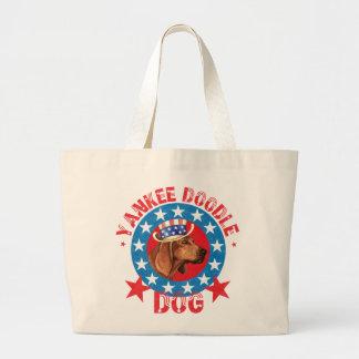 Patriotic Redbone Large Tote Bag