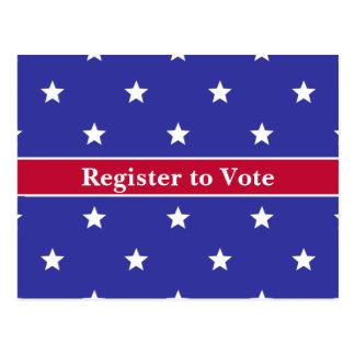 Patriotic Register to Vote Postcards