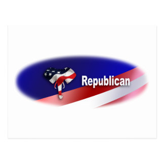 Patriotic Republican Symbols Postcard