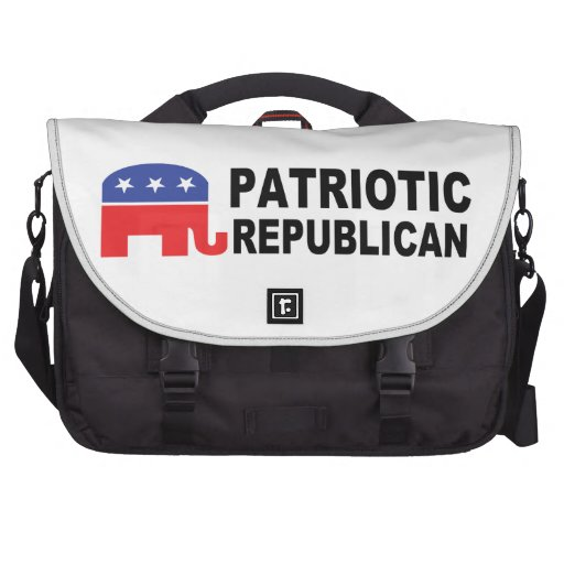 Patriotic Republican with Elephant Commuter Bags