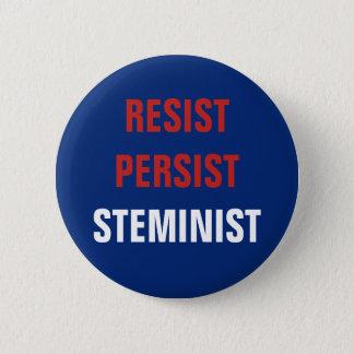 Patriotic Resist Persist STEMinist STEM Resistance Pinback Button