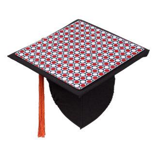 Patriotic Retro Dots Pattern Graduation Cap Topper