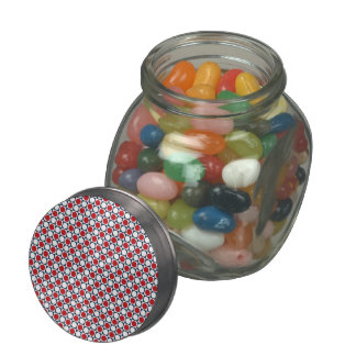 Patriotic Retro Dots Pattern Jelly Belly Candy Jars