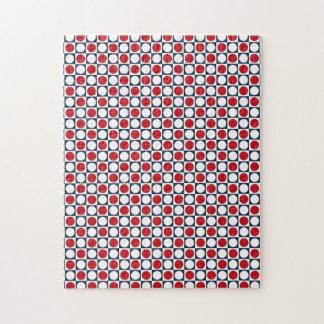 Patriotic Retro Dots Pattern Jigsaw Puzzle