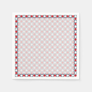 Patriotic Retro Dots Pattern Paper Napkin
