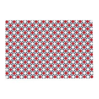 Patriotic Retro Dots Pattern Placemat