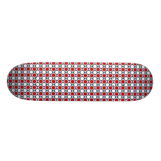 Patriotic Retro Dots Pattern Skateboard