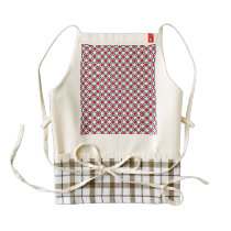 Patriotic Retro Dots Pattern Zazzle HEART Apron