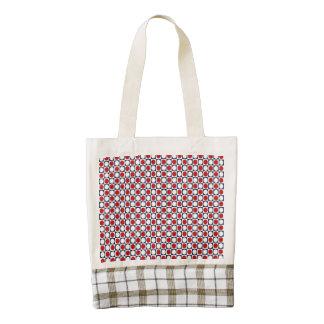 Patriotic Retro Dots Pattern Zazzle HEART Tote Bag
