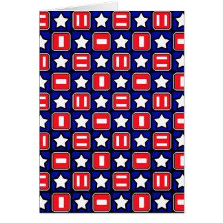 Patriotic Retro RWB Stars & Bars Card