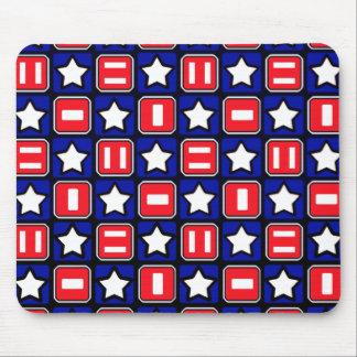 Patriotic Retro RWB Stars & Bars Mouse Pad