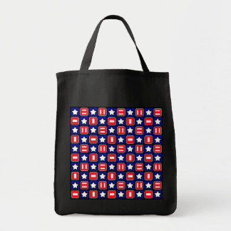 Patriotic Retro RWB Stars & Bars Tote Bag