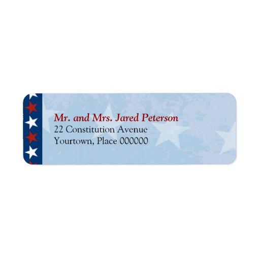 patriotic return address label zazzle