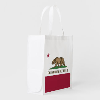 Patriotic reusable bag with California Flag