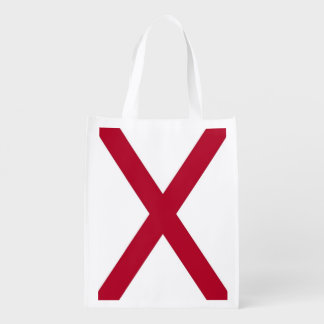Patriotic reusable grocery bag with Alabama Flag