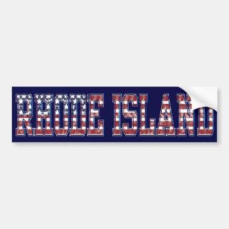 PATRIOTIC RHODE ISLAND BUMPER STICKER