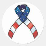 Patriotic ribbon stickers