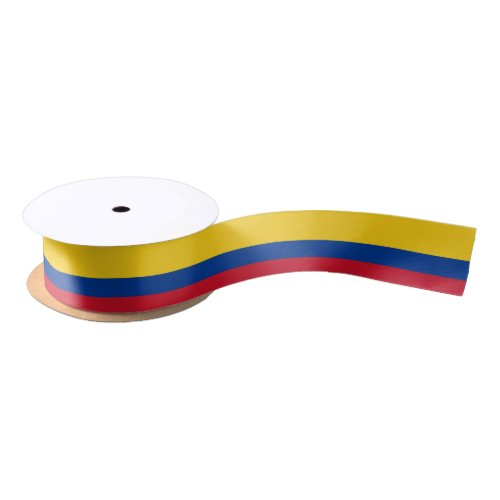 Patriotic Ribbon with Flag of Colombia