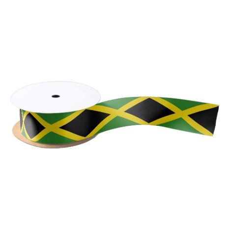 Patriotic Ribbon with Flag of Jamaica
